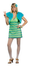 Women's 1960's 1970's Hippie Girl Costume One Size Standard Mini Dress Retro