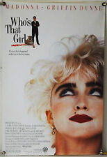 WHO'S THAT GIRL? ROLLED ORIG 1SH MOVIE POSTER MADONNA SCREWBALL COMEDY (1987)