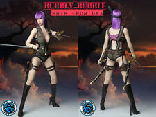 1/6 Dead or Alive Ayane Head Sculpt Clothing Weapons Set For Phicen Hot Toys USA