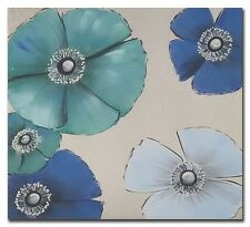 New Flowers Hand Painting Picture Blue Canvas Art Painting Wall Home Decor