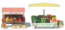 "HO Busch Honey/Jam & Vegetable Market Stands FARMER""S MARKET KIT 1071"
