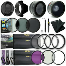 58MM Lens Adapter Filter & Close Up Kit for Canon EOS Rebel T6i T5i T5 T4i T3i S