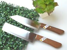 SET2 CHEF KNIFE KITCHEN KNIVES STAINLESS STEEL CUTLERY VINTAGE KIWI SHARP BLADE#