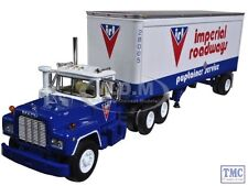 60-0265 First Gear 1:64 Mack R Model Imperial Roadways Ltd with 28' Pup Trailer