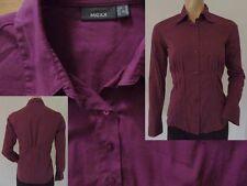 Mexx Hemdbluse Bluse Damen spitzer Kragen Stretch weinrot S 36 Top Zustand