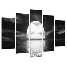 Set of 5 Panel Black White Canvas Wall Art Pictures Large Prints 5003