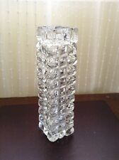 Cut glass vase square cylinder style