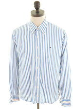 Tommy Hilfiger Mens Shirt XL White Candy Stripe Cotton