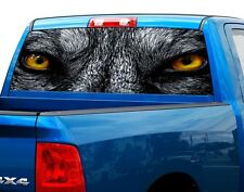 Wolf eyes wolfs Rear Window Graphic Decal Sticker Truck SUV