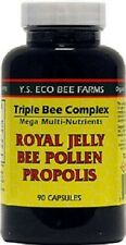 YS Organics Triple Bee Complex Royal Jelly Bee Pollen Propolis 90 Caps
