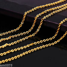 Pure 999 Solid 24K Yellow Gold Chain Necklace/ Perfect O Chain Necklace 2.9g