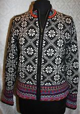 Icelandic Design Cardigan Sweater Jacket M Lined Wool Knit