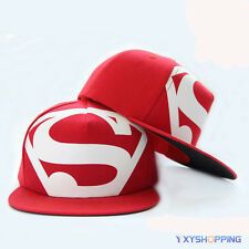 Unisex Marvel Superhero SUPERMAN Snapback adjustable Baseball Cap Hiphop Sun Hat