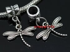 30pcs Tibetan Silver dragonfly Bulk Lots Dangle Charms Fit Bracelet(Lead Free)