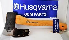Husqvarna OEM 576956401 13 in Curved Hatchet With Leather Sheath Made in Sweden