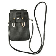 Black PU Leather Cross-body Mobile Phone Shoulder Bag Pouch Case For iPhone 6s 6