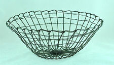 LARGE CONTEMPORARY ROUND METAL WIRE BASKET FOR STORAGE AND ORGANIZATION