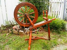 "GREAT Small Antique Wooden Spinning Wheel 32"" Height"