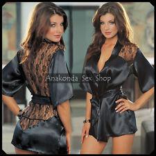 Helen SEXY Luxury Satin Lingerie Lace DRESS Underwear Babydoll Sleepwear Sex Toy