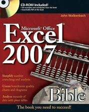 Excel 2007 Bible, Walkenbach, John, Good Book
