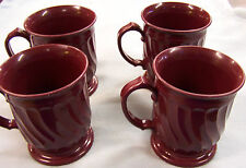 (LOT OF 4) #3000 Turnbury By Dinex Maroon Swirl Pattern Insulated Coffee Cup.