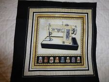 VINTAGE Sewing Machine Fabric Cotton Craft Panel Quilting THIMBLES