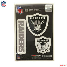 New NFL Oakland Raiders Team ProMark Die-Cut Decal Stickers 3-Pack