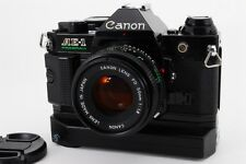 [EXC+++++] Canon AE-1 Program Camera w/ NFD 50mm F/1.8, WINDER A2 From Japan#304