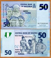 Nigeria, 50 naira, 2006 (First Date) P-35a UNC   Fishermen with their catch
