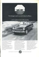 1966 MGB British Motor Corporation at LeMans PRINT AD