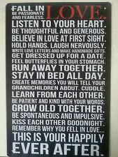 LOVE  RETRO PICTURE IN METAL TIN SIGN WALL DECOR POSTER UK SELLER
