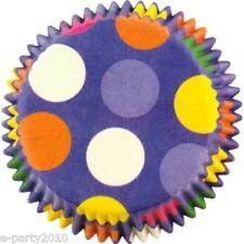 (75) WILTON mini Dazzling DOTS BAKING Cupcake CUPS ~ Birthday Party Supplies