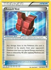 2015 POKEMON XY BREAKTHROUGH CARD UNCOMMON 133/162 TRAINER ASSAULT VEST