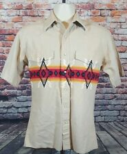 WRANGLER Men's Size Small Snap Closure Western Shirt Aztec Pattern