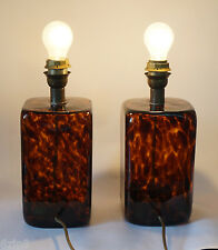 Pair BAROVIER & TOSO MURANO GLAS ITALY Lampe Leuchte Lamps glass