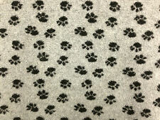 SHERPA FLEECE PAW PRINT PAWS CASHMERE DOG BLANKET JACKET FURNISHING FABRIC A1296