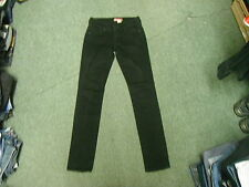 """And & SQIN Jeans Waist 26"""" Leg 32"""" Black Faded Ladies Jeans"""