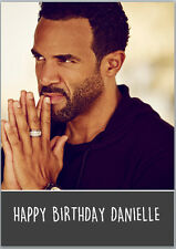 Craig David Birthday Card A5 Personalised with any wording