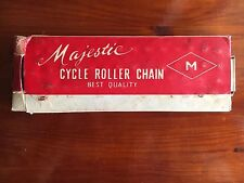 "Majestic Rennrad Kette Roller Cycle Chain Retro Vintage NOS 1/2""x1/8"" x 112"