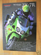 K061 KAWASAKI BROCHURE PROSPEKT FOLDER ZX-7R 1999 DUTCH 8 PAGES