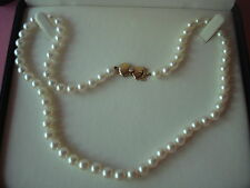 MIKIMOTO BLUE LAGOON PEARL NECKLACE BEZEL DIAMOND CLASP 14KT NEW
