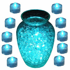 TEAL Submersible Waterproof Underwater Wedding Battery LED Tea Light 10 Pack