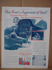 1938 Eveready Flashlight Battery Coal Train VS. Car Vintage Print Ad 096
