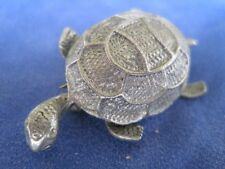 Turtle Tortoise Reptile Animal Silver *Cute and Adorable* Pin - Jewelry - NEW
