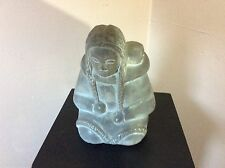 eskimo soapstone carving of Mother and Child