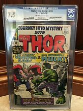 JOURNEY INTO MYSTERY #112 CGC 7.5 VF- THOR VS. HULK CLASSIC COVER (ID 4166)