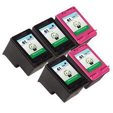 5 Pack HP 61 Ink Cartridge - Deskjet 1000 Deskjet 1050 Deskjet 2050 Printer