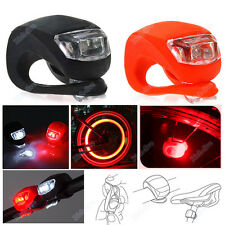 Silicone Bike Bicycle Cycling Head Front Rear Wheel LED Flash Light Lamp BUY XG