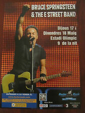 BRUCE SPRINGSTEEN PROMOTIONAL FLYER BARCELONA 2012 CONCERTS