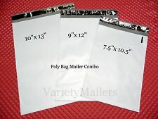 120 POLY BAG MAILING ENVELOPE VARIETY PACK ~ 3 SIZES ~  FREE PRIORITY SHIPPING!